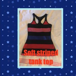 ❤️💙Black,Blue, red and pink striped tank❤️💙